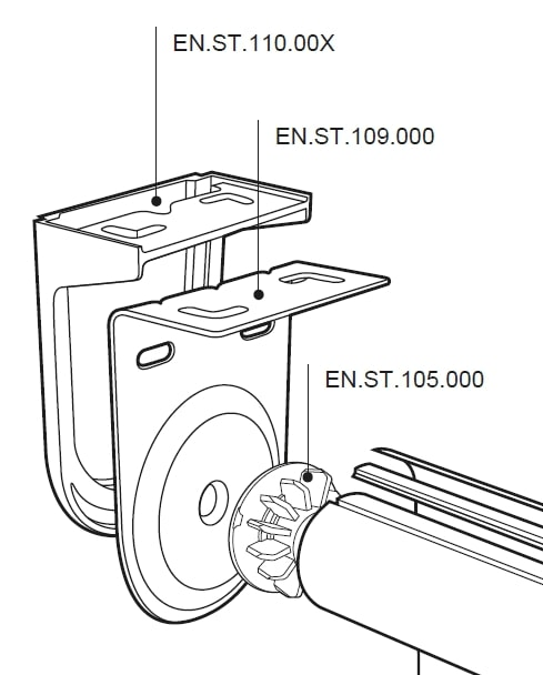 Technical Drawing - STRONG Electric Roller Blind Bracket Covers