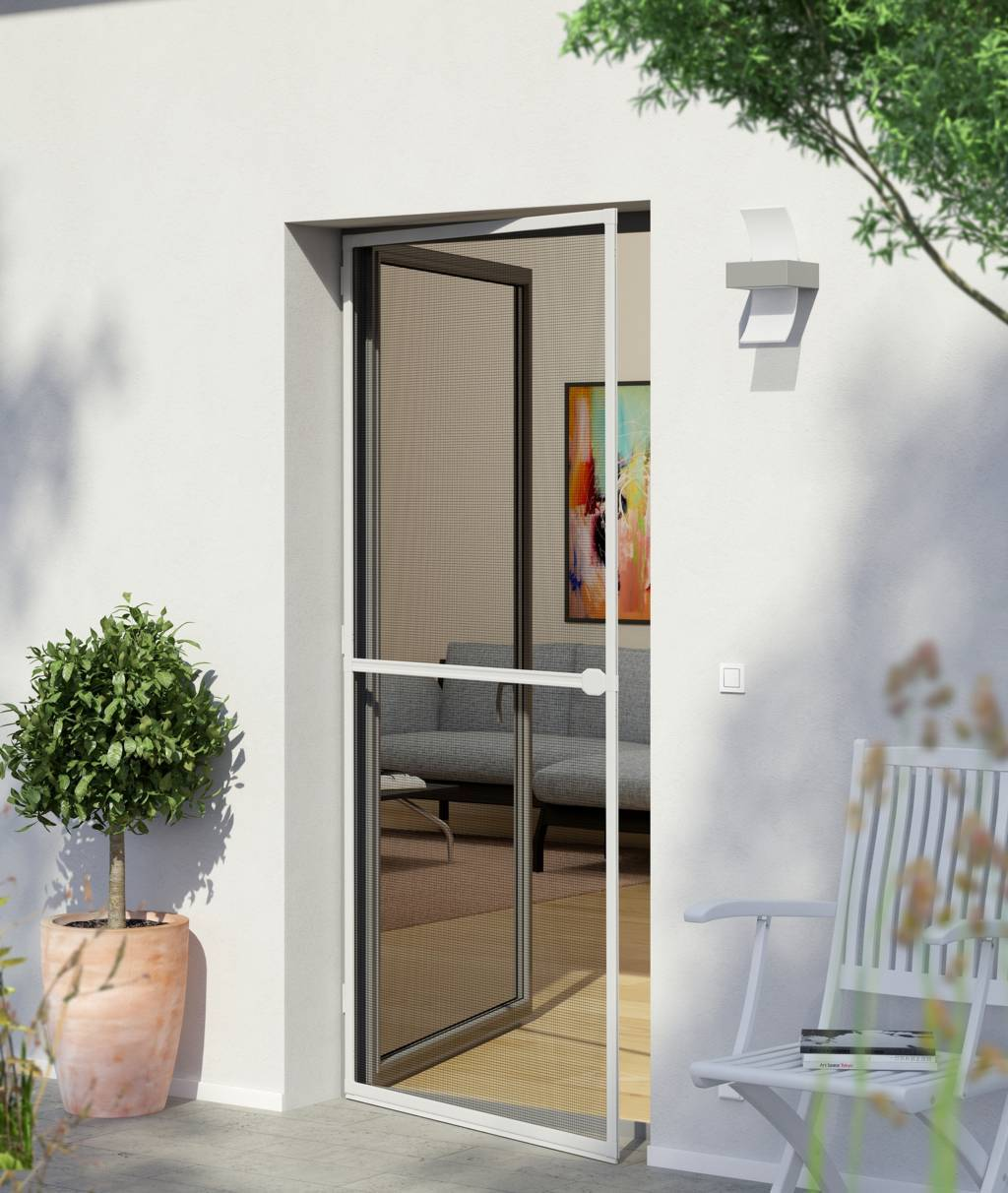 Hinged Fly Amp Insect Screen Door Newblinds Co Uk