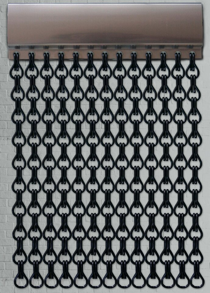 Black Chain Fly Screen | 90x210cm