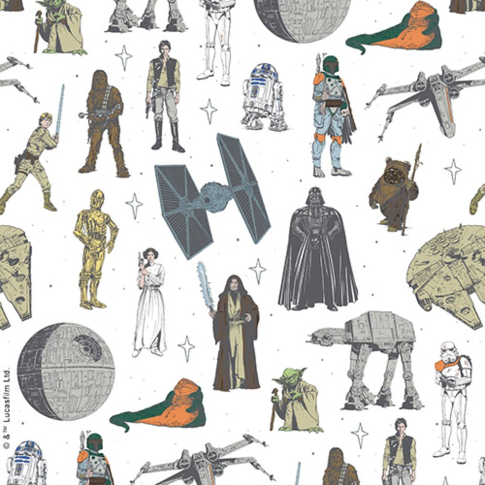 Star Wars Characters Rb Soft Roller Blinds Newblinds Co Uk