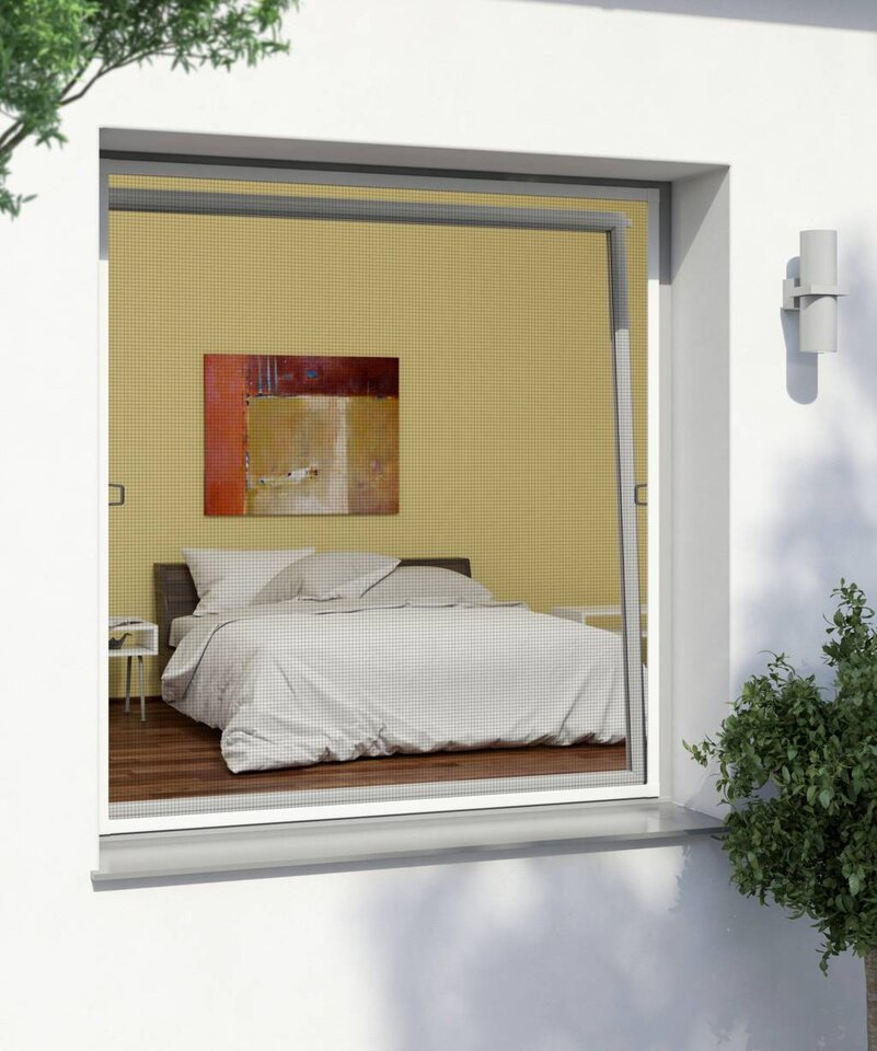 Framed Window Flyscreen 140x150cm, White (Plu