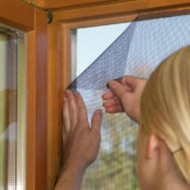 Velcro Mesh Window Fly Screen - 100x130cm (Pl